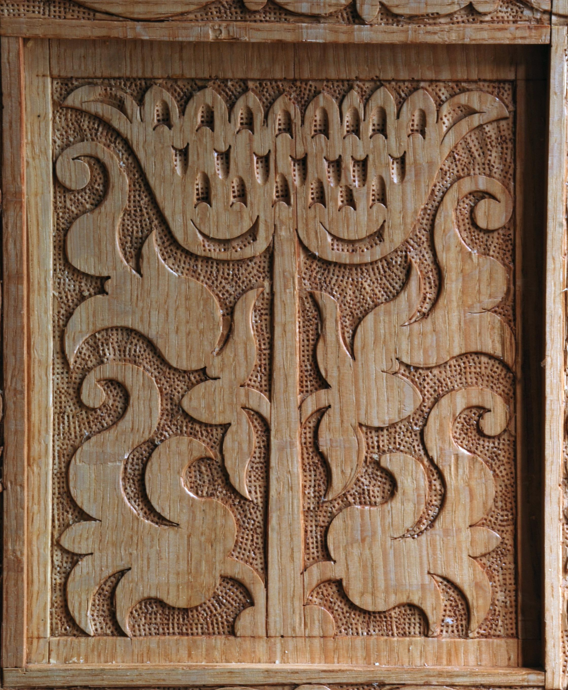 Carved design peter follansbee joiner 39 s notes How to carve designs in wood