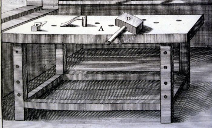 joiner's bench, Felebien