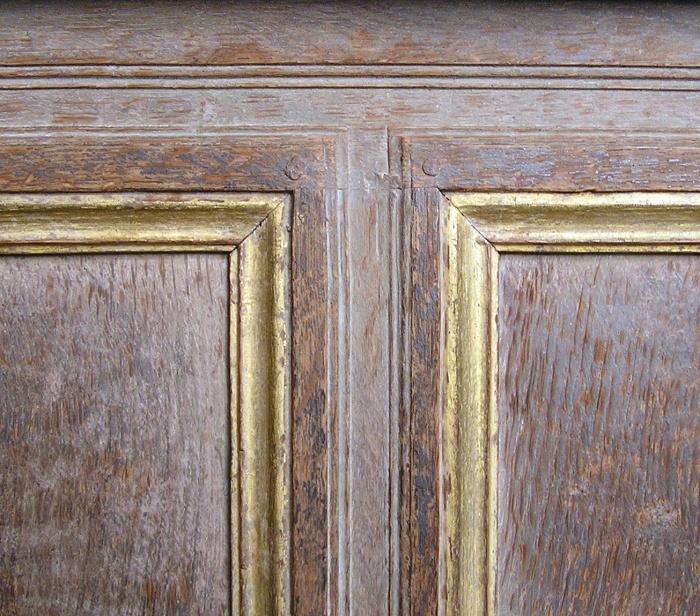 molding details Haddon Hall chapel