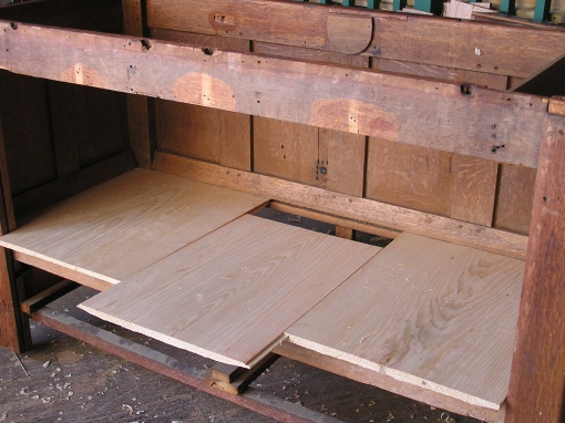 floor boards in chest