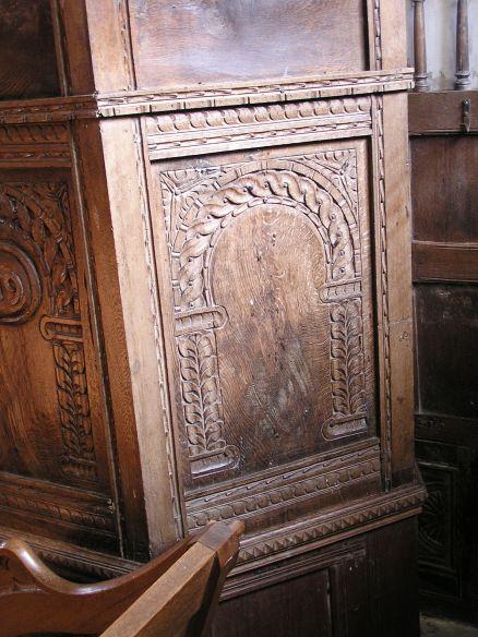 carved pulpit detail