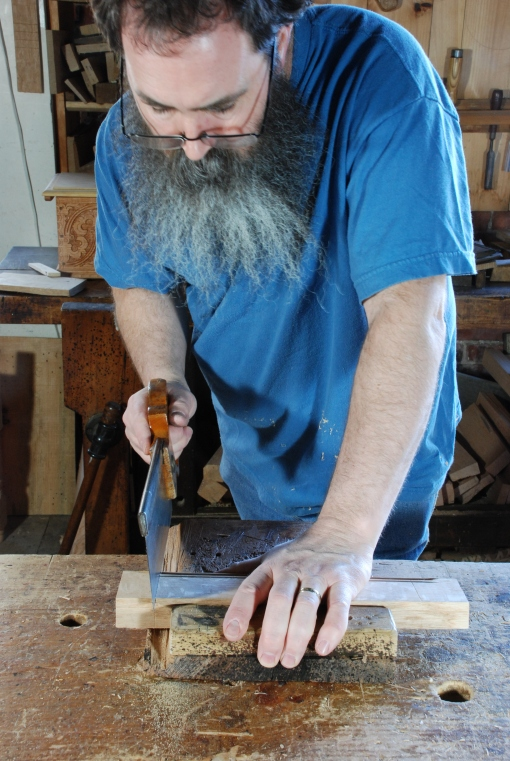 sawing tenon shoulder