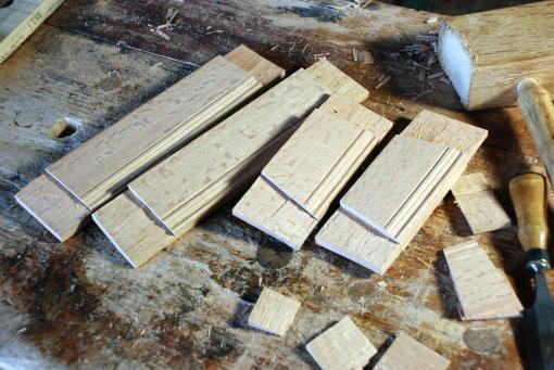 roughed-out tenons