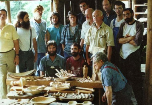 woodenware class, Country Workshops, early 1990s