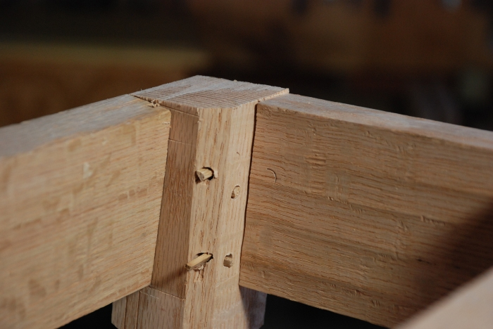 interior of stool frame
