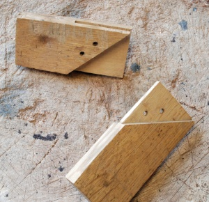 mitered bridle joint apart