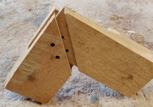 mitered bridle joint open