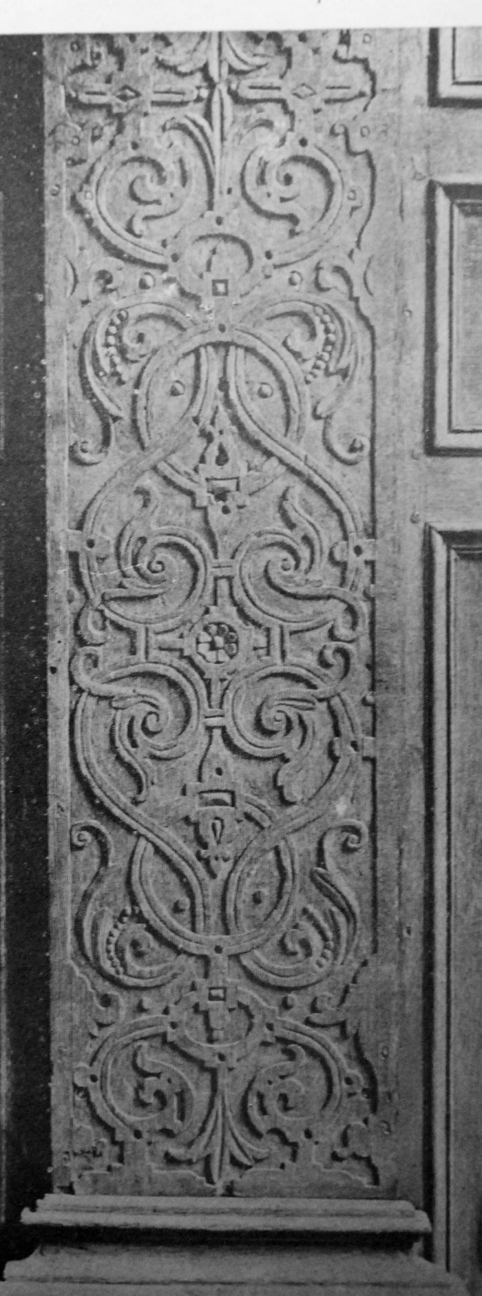carved panel, London