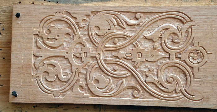 test-carving of London pattern