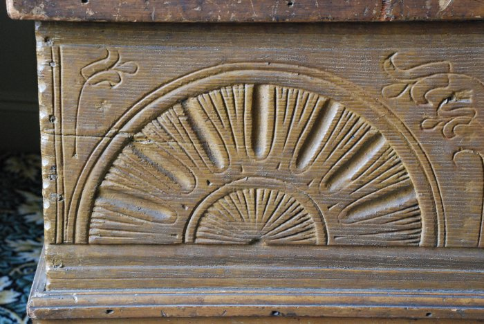 detail, Plymouth Antiquarian Society chest