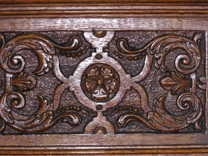 carved panel, prob. Exeter