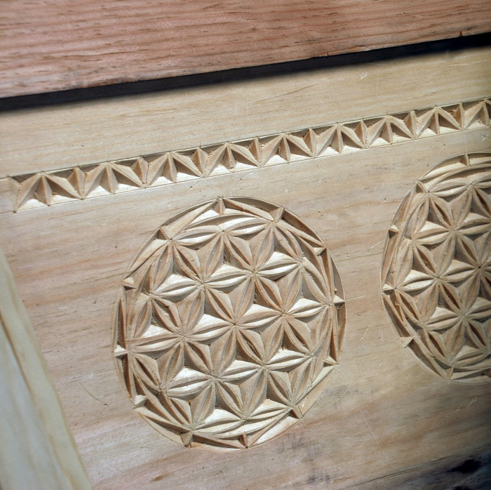 pine chip carving