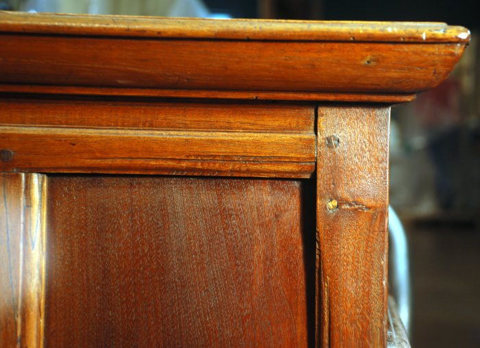 chest of drawers, detail, cedrela