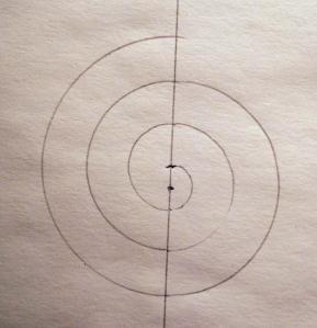 compass-drawn spiral
