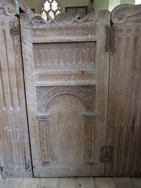 Suffolk pew door