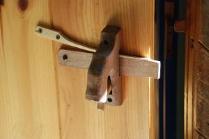 door latch inside