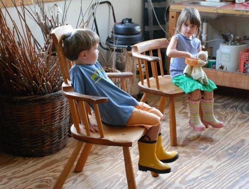 kids in Drew's windsors
