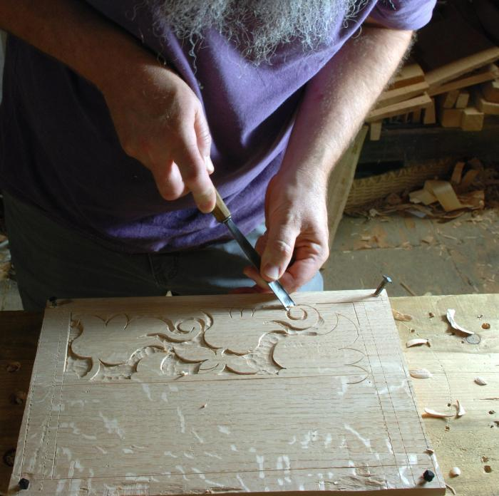 carved panel demo preparation