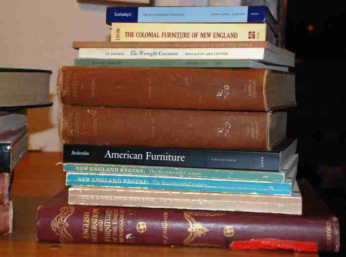 half-a-pile of books
