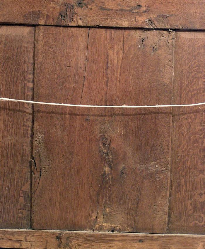 flatsawn oak, in joined chest