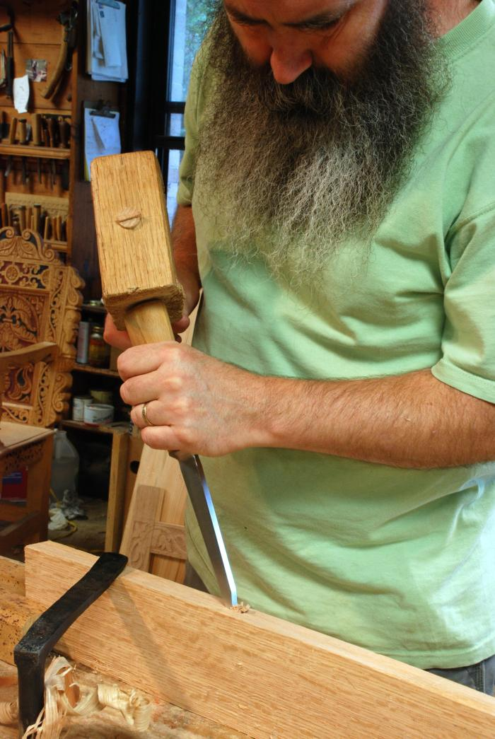 using the Iles mortise chisel