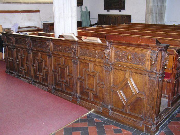 carved pews, Totnes, Devon