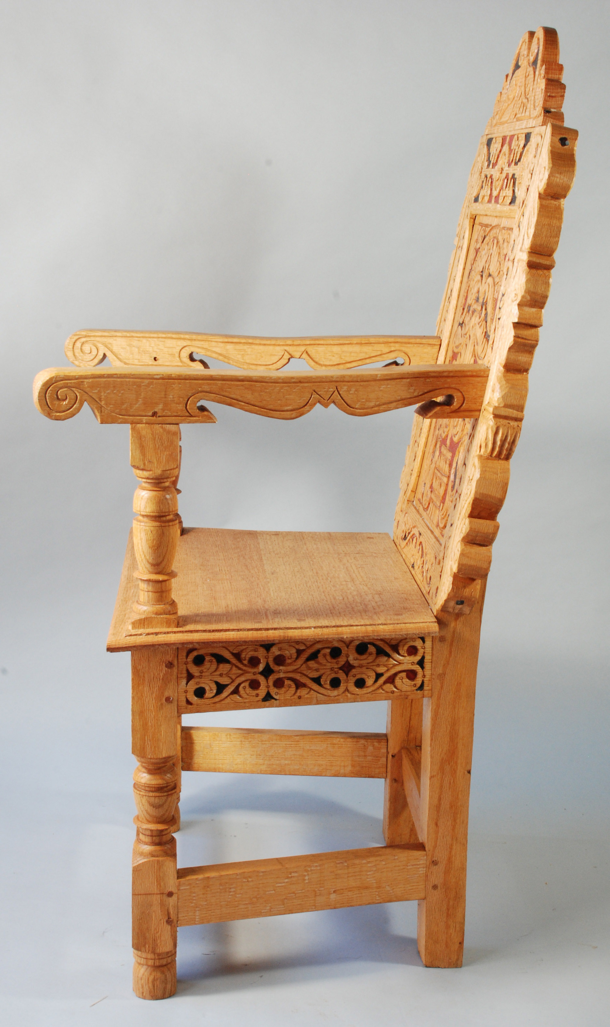 Rear Post For A Wainscot Chair