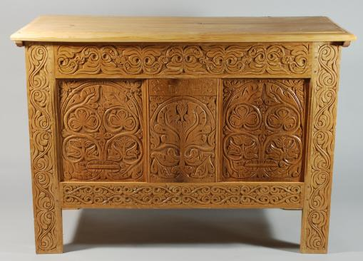 white oak chest, 2009