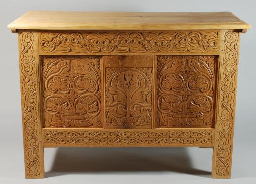 white oak chest, 2009