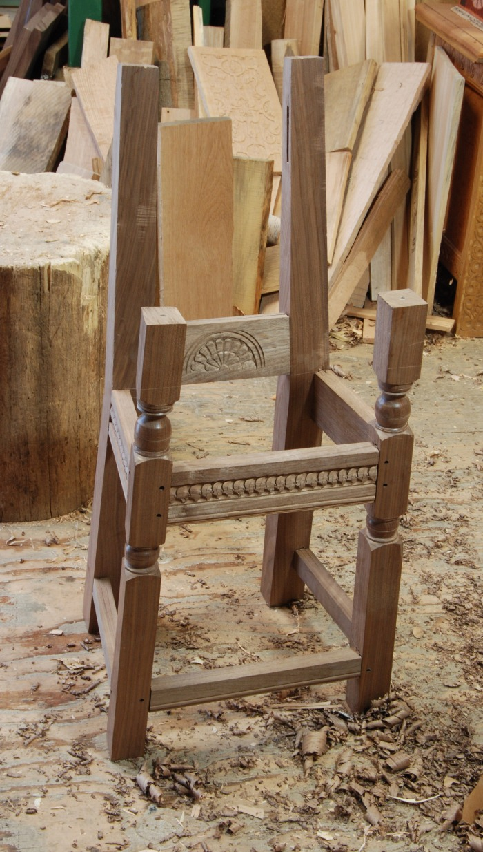 wainscot chair half done