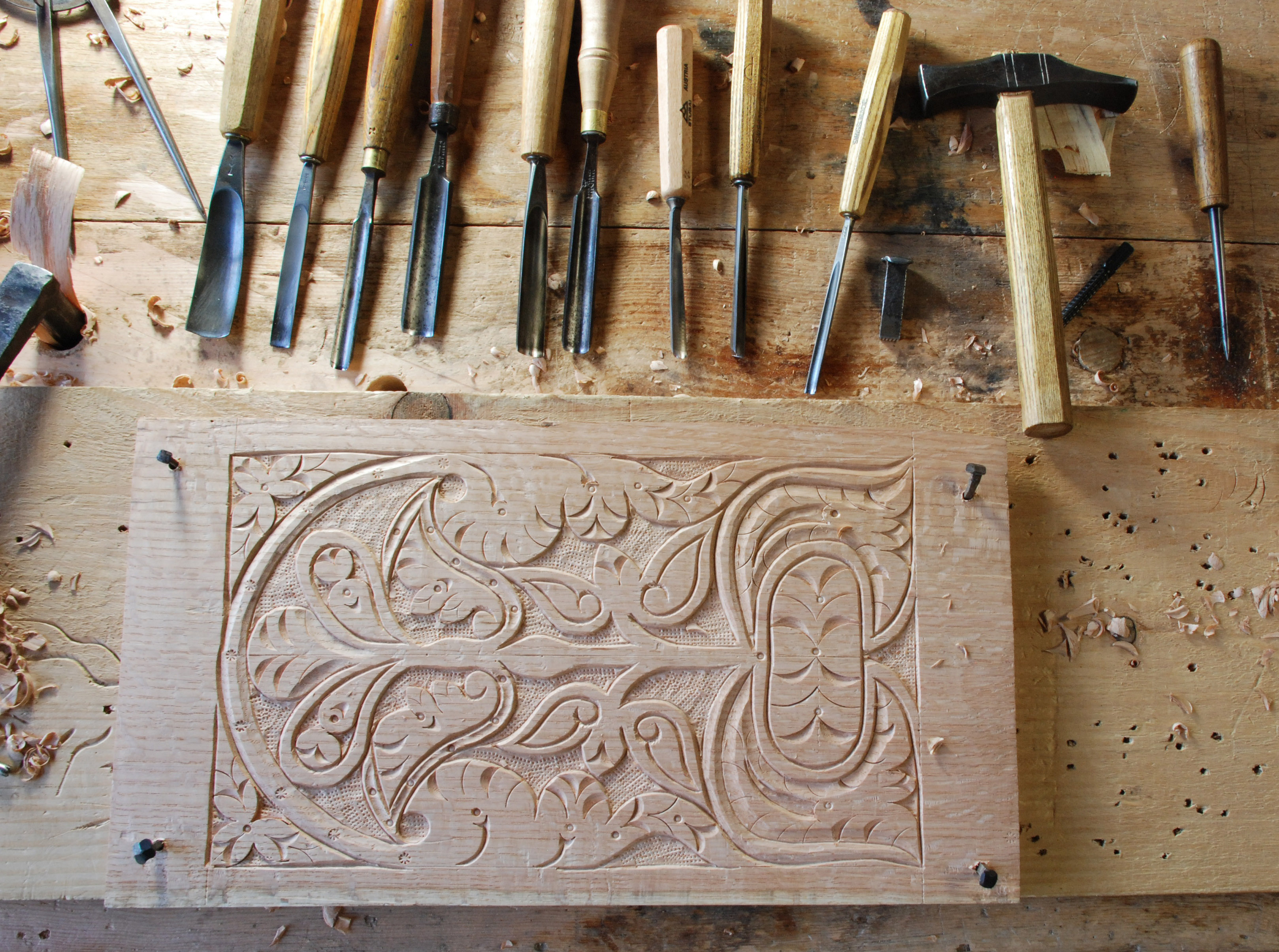 Walnut high chair carving peter follansbee joiner s notes
