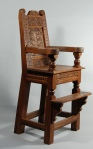 walnut high chair, 2011