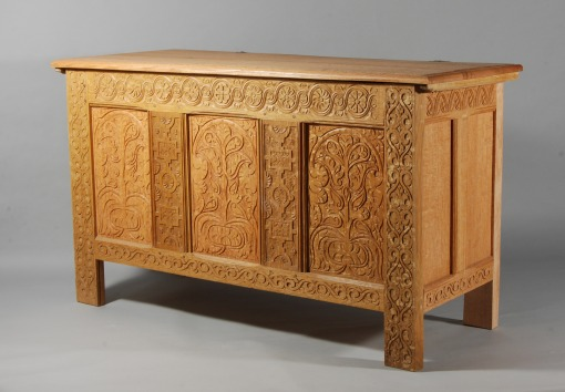 joined & carved chest, 2010