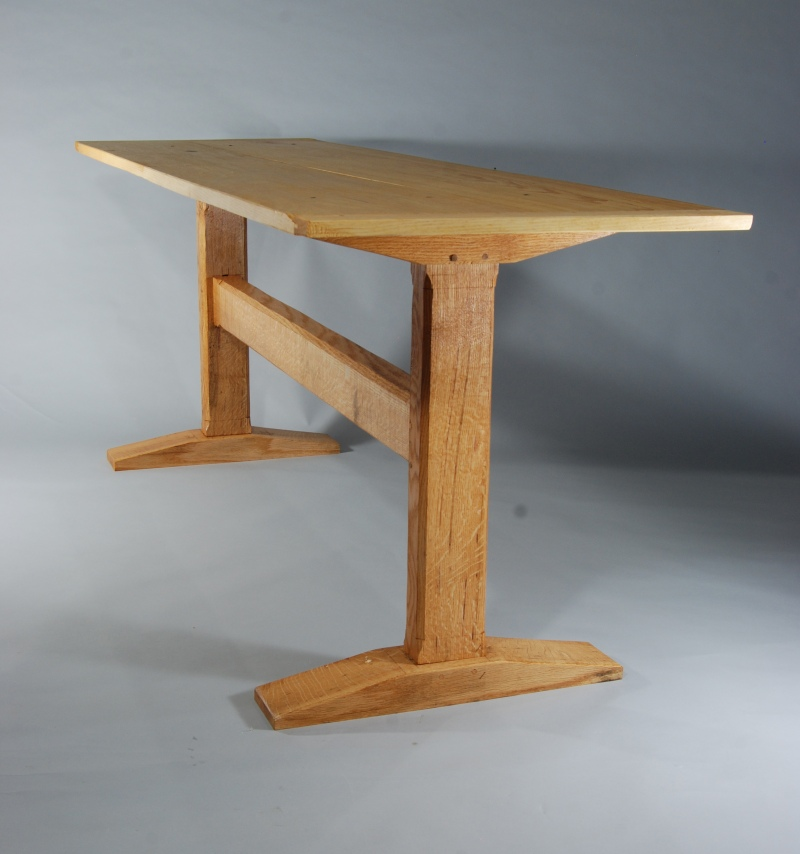 fine woodworking trestle table plans