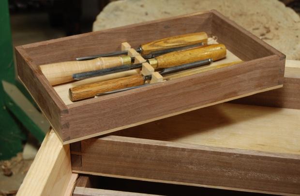 Build wood carving tool box diy pdf black walnut