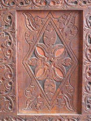 detail Ipswich chest, 1660-1700