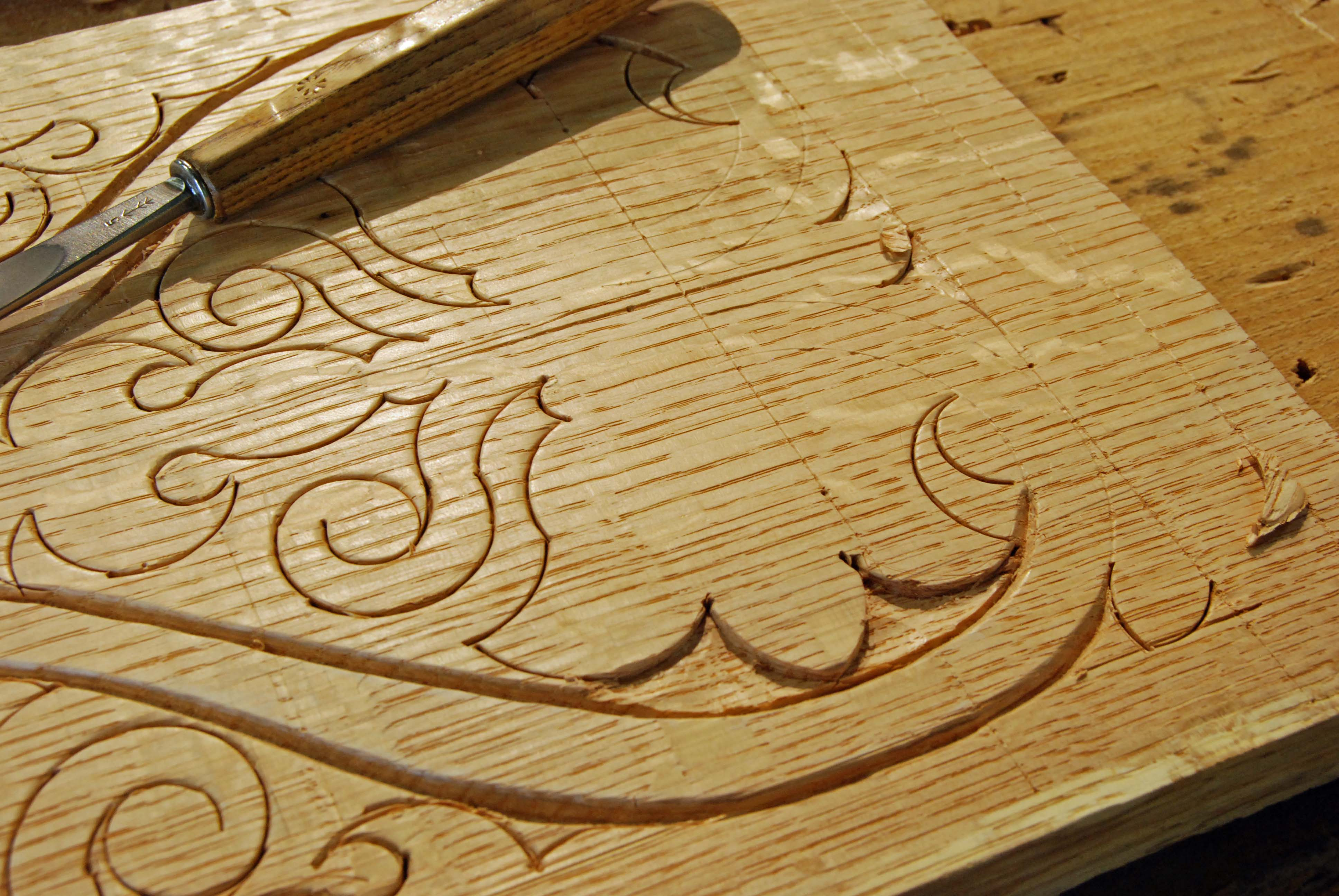 17th C Joinery Carving At Port Townsend School Of
