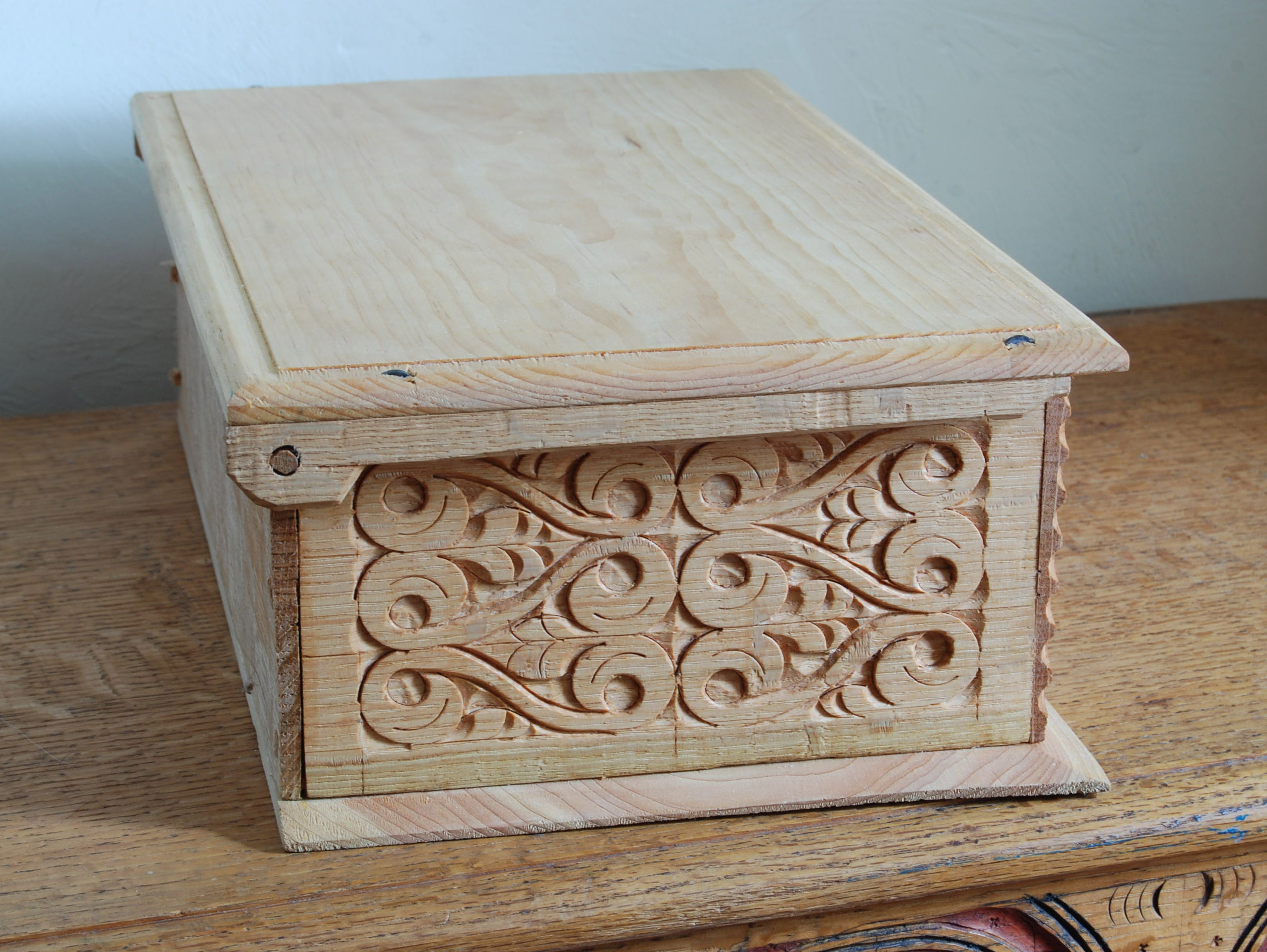 Wooden Box Hinged Lid Plans Woodproject