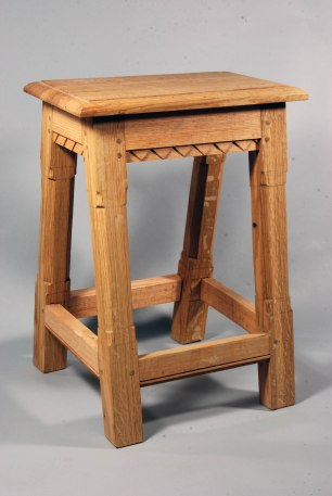 joined stool, chamfered not turned