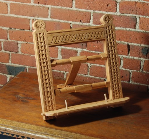 carved bookstand