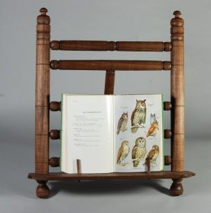 walnut book stand w owls