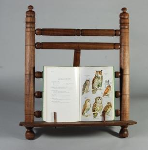 walnut book stand w owls