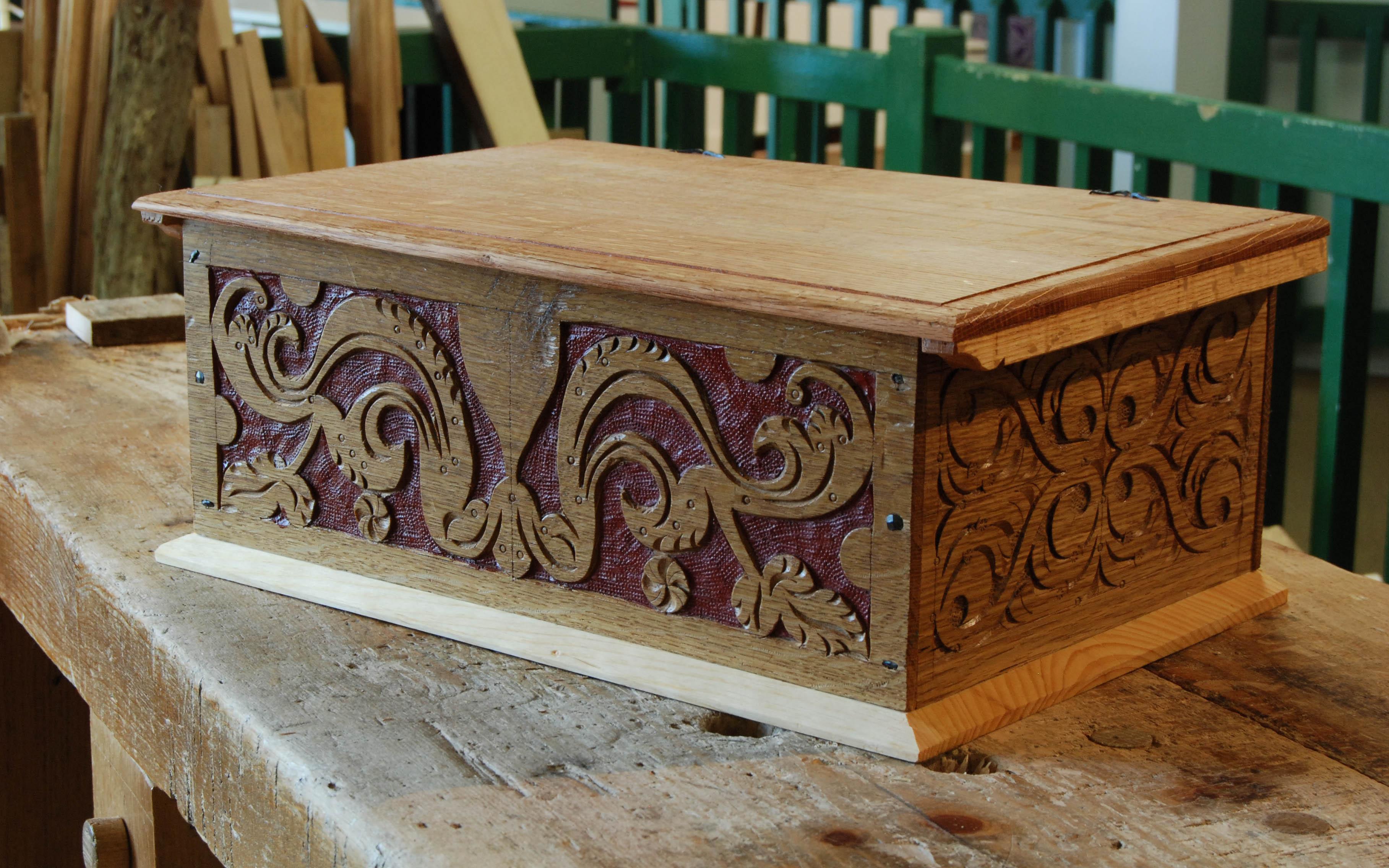 carved box, May 2013