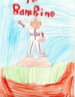 Daniel's drawing of Babe Ruth
