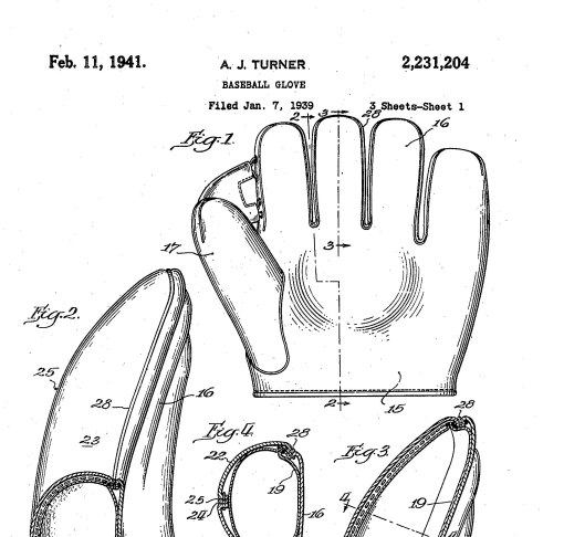 patent for Moe's glove