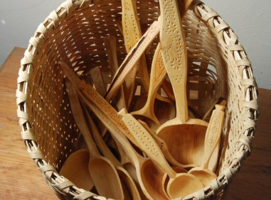 spoons in basket