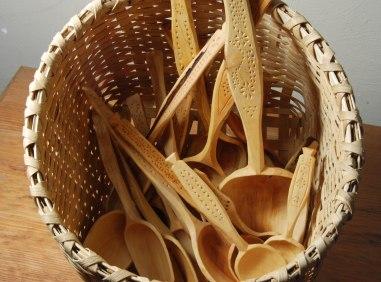 spoons in basket