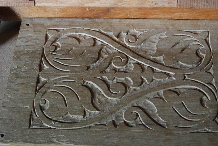 raking on carving