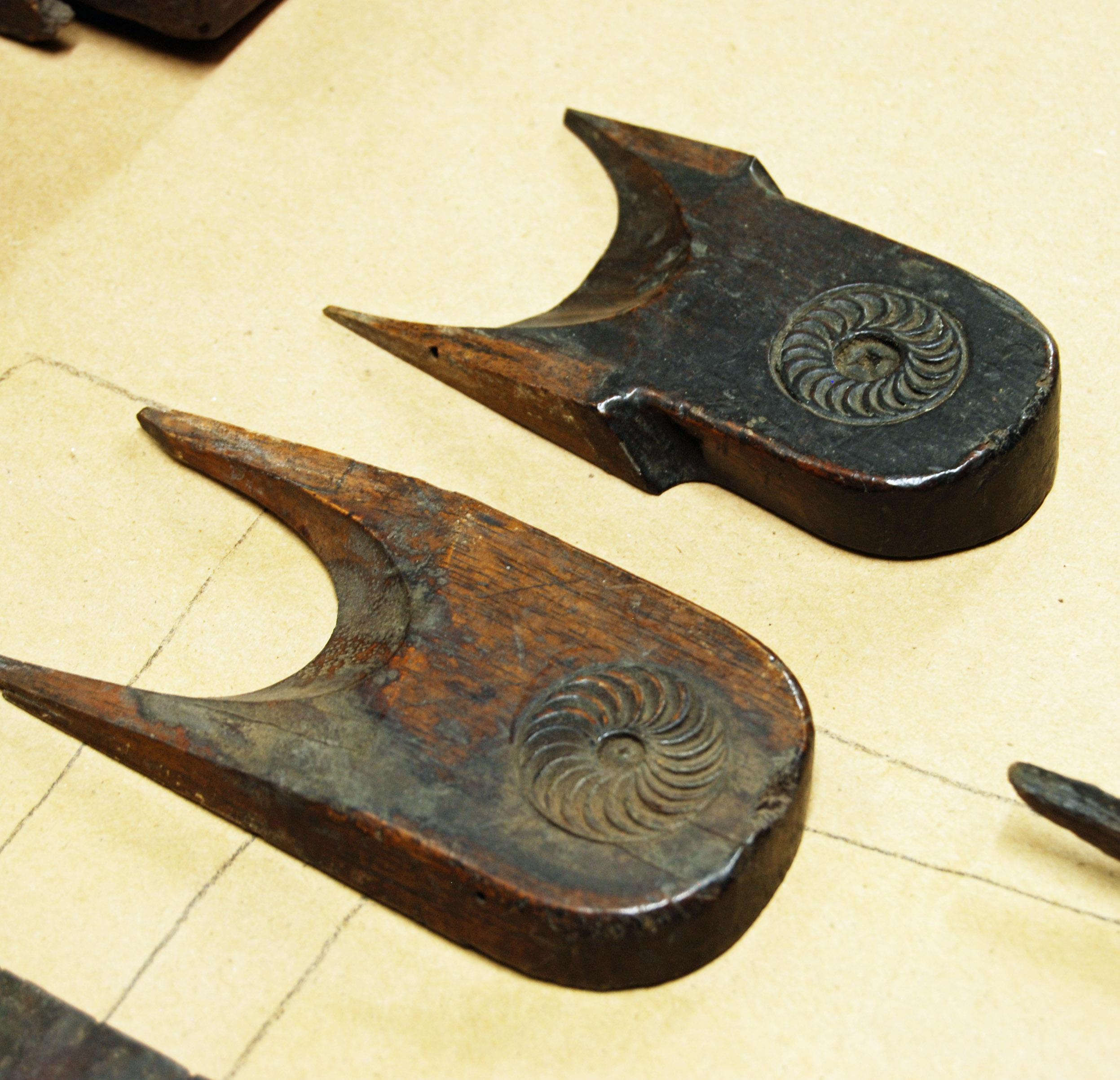 carved wedges
