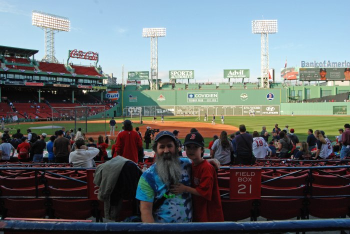 both of us at Fenway